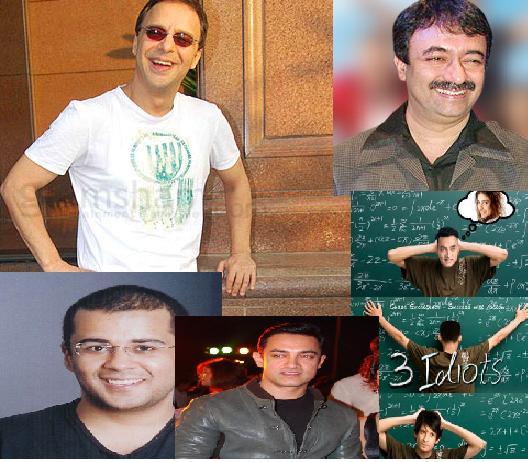 3 idiots, Amir Khan, RajKumar Hirani and Vidhu Vinod Chopra